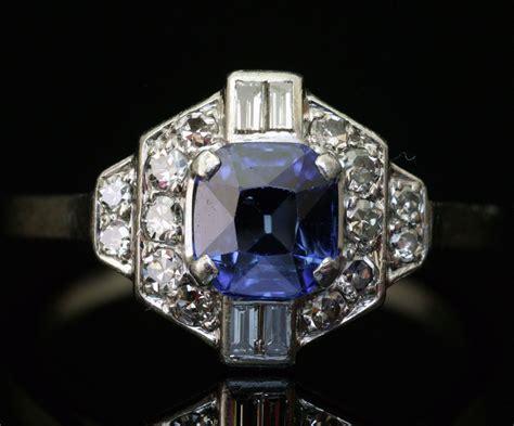 bague deco ancienne bagues anciennes d 233 co bague deco en platine diamant et saphir