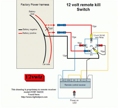 Rover Remote Starter Diagram by 12 Volt Remote Kill Switch Diagram By 12vwiz Sg Gear