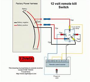 12 Volt Remote Kill Switch Diagram  By 12vwiz Sg  Gear Grinder On Modified Power Wheels  For
