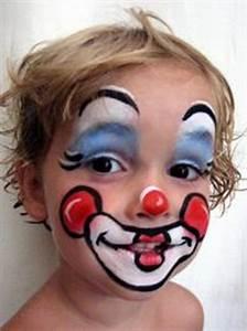 Maquillage Halloween Garçon : maquillage enfant clown ~ Melissatoandfro.com Idées de Décoration