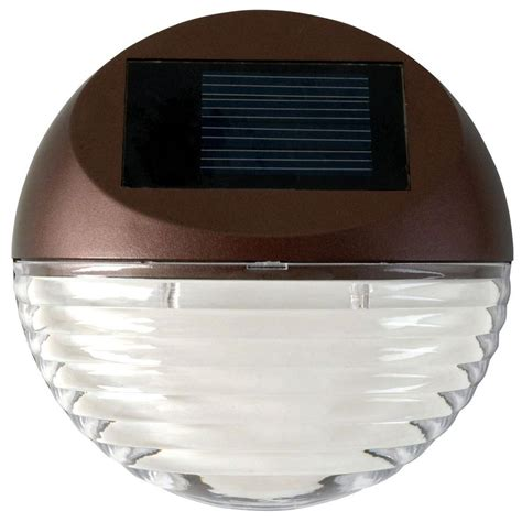 solar led deck lights moonrays solar powered mini led bronze round outdoor deck