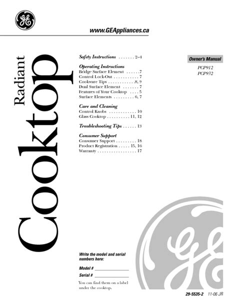 cooktop users guides cooktop page