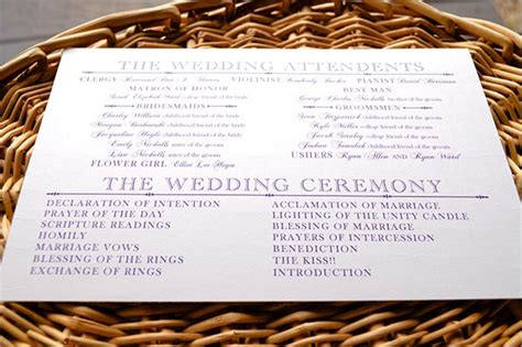 wedding program template  premium templates