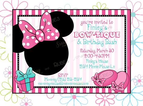minnie mouse invitation template minnie mouse invitation template cyberuse