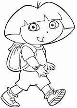 Coloring Pages Dora Explorer Cartoons Older Newer sketch template