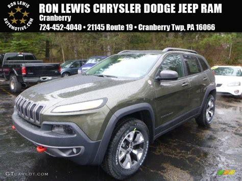 green jeep cherokee 2015 2015 eco green pearl jeep cherokee trailhawk 4x4