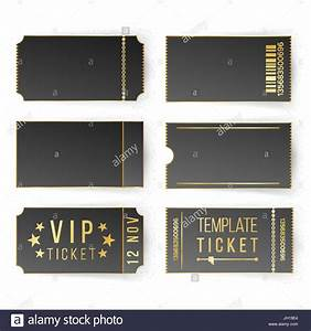 Movie Ticket Layout Vip Ticket Template Vector Empty Black Tickets And