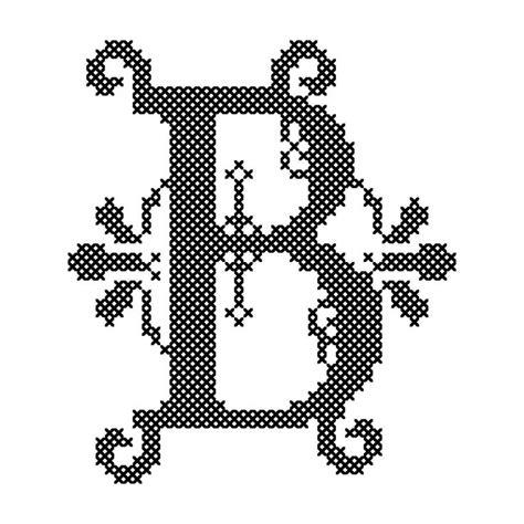 modern monogram letter  ornate font cross stitch pattern monogram cross stitch cross stitch