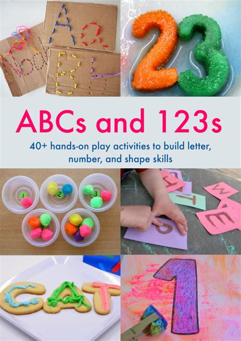 abcs and 123s on activities for a day 297 | Hands on activities for children learning letters and numbers