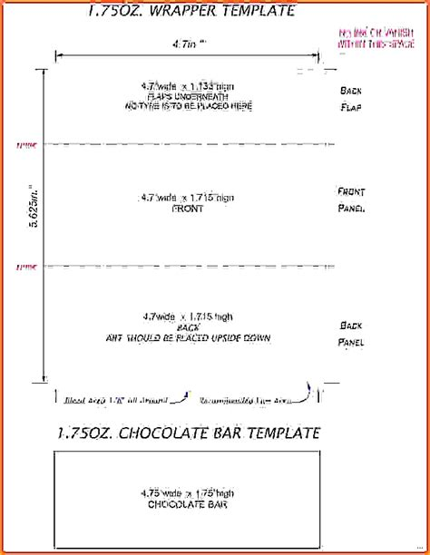 candy bar wrapper template for bar wrapper template for word