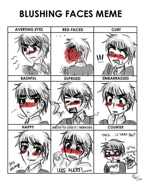 Blushing Meme - blushing faces meme by thegweny on deviantart