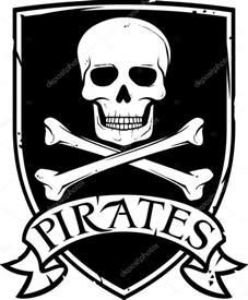 Pirate Skull and Crossbones Vector