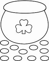 Pot Gold Crafts Coloring St Template Printable Patricks Pages Patrick Outline Craft March Preschool Bigactivities Paper Activities Rainbow 2009 Printables sketch template
