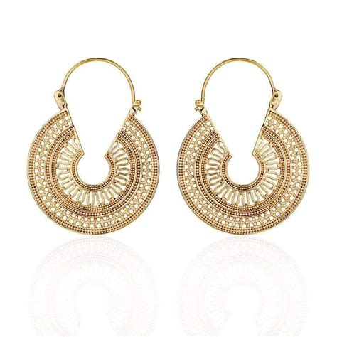 medallion earring daya jewelry
