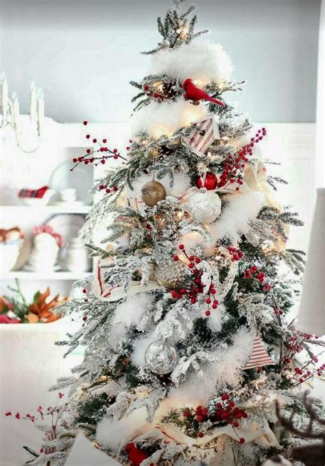 love  snow  berry branches christmas tree
