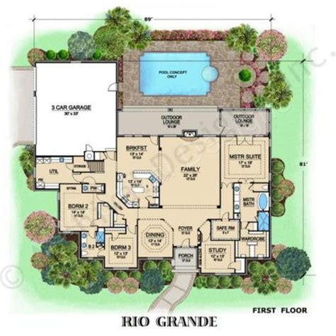 rio grande house plan luxury floor   sizes house plan rio grande  floor house