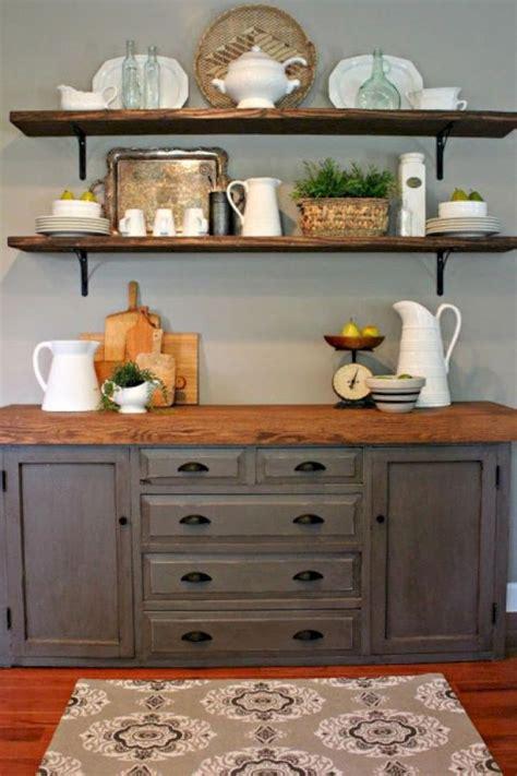unusual diy kitchen open shelving ideas dining room