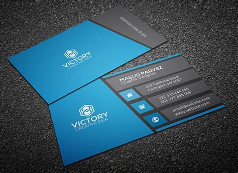 modern business card templates word psd ai apple