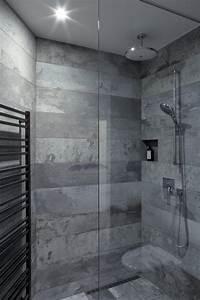 Carrelage De Douche : carrelage effet b ton concord avec le mobilier minimaliste d un loft ~ Melissatoandfro.com Idées de Décoration