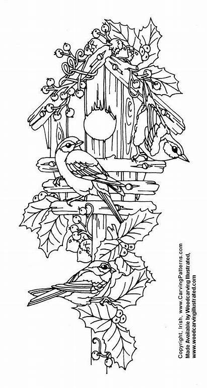 Patterns Wood Pyrography Carving Christmas Bird Pages