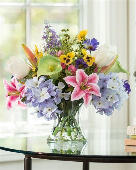 buy lifelike calla tulip silk flower centerpiece at petals