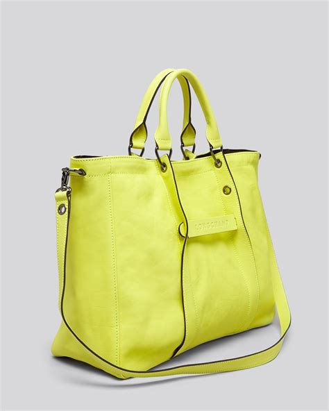 lyst longchamp tote  large  yellow