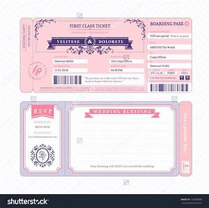 airline ticket invitation example mughals With flight ticket wedding invitation template