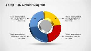 4 Step 3d Circular Diagram Template For Powerpoint