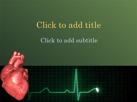 animated cardiology powerpoint template  medical