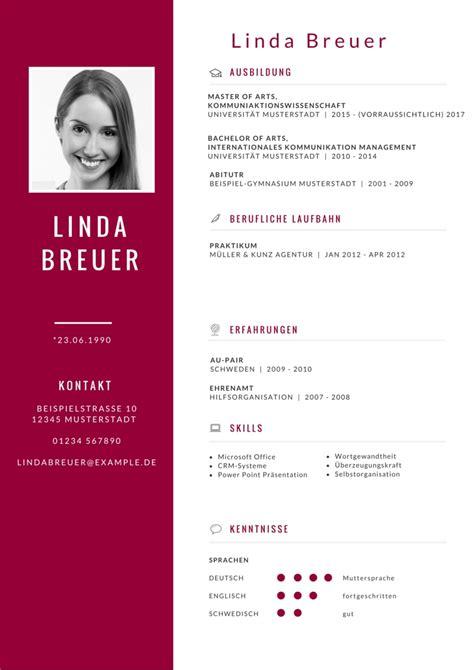 Lebenslauf Uni Bewerbung by Bewerbung Mal Anders Tipps F 252 R Einen Kreativen Lebenslauf