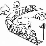 Train Coloring Pages Steam Diesel Toy Railroad Trains Engine Track Outline Drawing Caboose Printable Transcontinental Getcolorings Template Getdrawings Tracks Netart sketch template