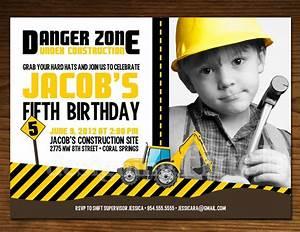 Construction Birthday Invitations Ideas – Bagvania FREE