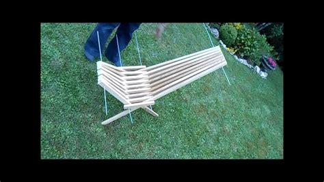 plan chaise de jardin en palette fabriquer une chaise pliante avec des tasseaux