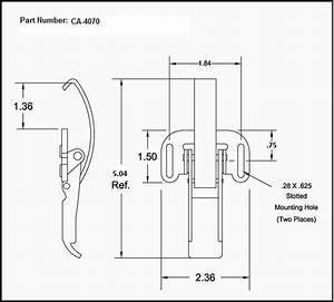 Ca-4070   Solid Curved Hook