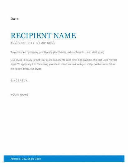 Templates Office Letter Business Word Template Sample