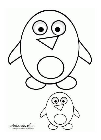 Coloring Cartoon Penguins Pages Penguin Printable Getdrawings