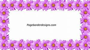 Beautiful Purple Flower Frames Border Design 2016 ...