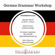 German Grammar Workshop  Intermediate Level  Multilingual Society