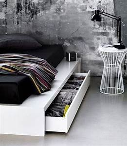 Tiroir Sous Lit : o trouver votre lit avec tiroir de rangement ~ Teatrodelosmanantiales.com Idées de Décoration