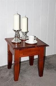 Couchtisch Quadratisch Holz : couchtisch quadratisch beistelltisch 45x45cm holz massiv kirschbaumfarben ~ Buech-reservation.com Haus und Dekorationen