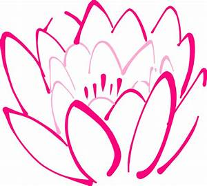 12 Petal Pink Lotus Clip Art at Clker.com - vector clip ...