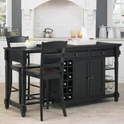 walmart kitchen islands home styles grand torino kitchen island and 2 stools black walmart com