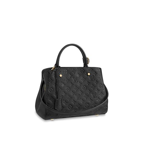 montaigne mm monogram empreinte leather  black handbags  louis vuitton