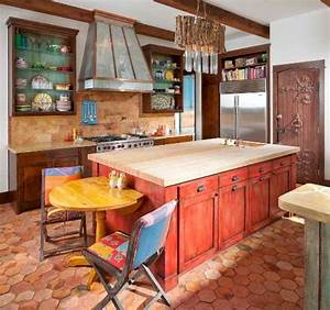 How to make over your kitchen in a hot mexican style for What kind of paint to use on kitchen cabinets for outdoor terracotta wall art