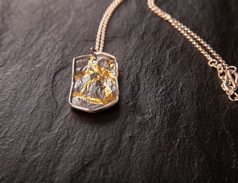 Military Tag Pendant in Silver and Gold – Mikela Jewelry