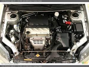 2 4l Sohc 16v Mivec Inline 4 Cylinder 2009 Mitsubishi