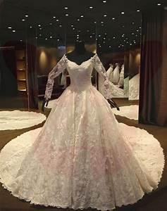 princess lace elegant castle white ivory wedding dress With castle wedding dress