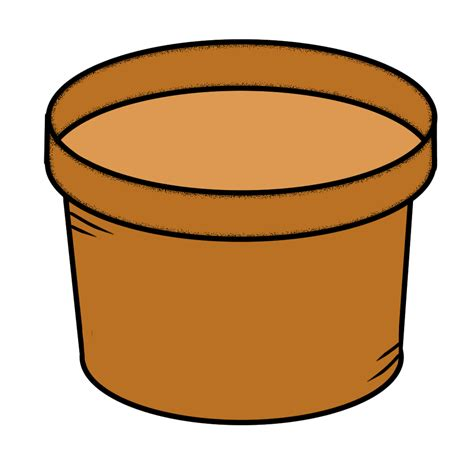 Flower Pot Clipart Clip By Carrie Teaching Gardening Doodles And