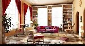 continental retro living room 3d model downloadfree 3d With living room furniture 3d model free download