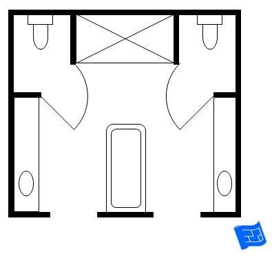 His And Bathroom Floor Plans by 17 Best Master Bathroom Floor Plans Images On